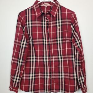 BURBERRY BRIT| Plaid Button Down Shirt M